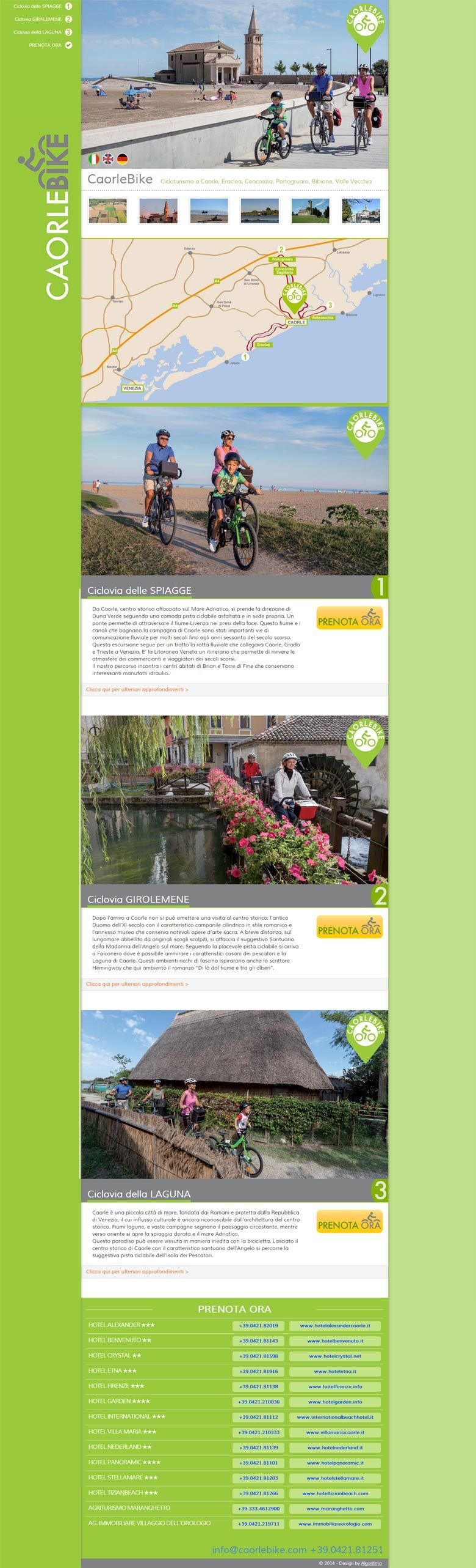 One page site CaorleBike