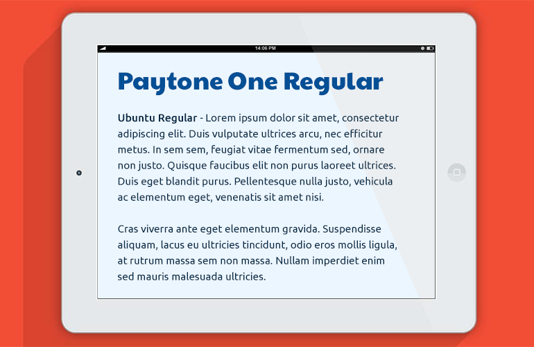 font-combination-paytone-one-ubuntu
