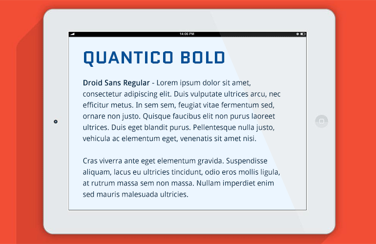 font-combination-quantico-droid